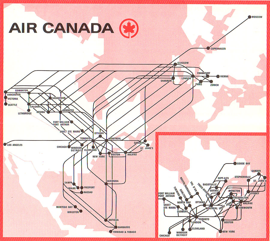 Air Canada Route Map Asia Mexico: Air Canada Flight Map At Infoasik.co