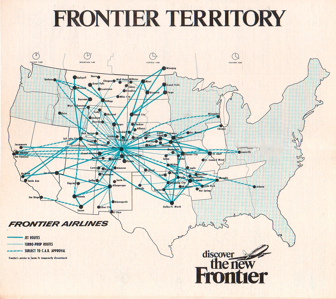 Frontier Airlines - Collector's Guide to Airline Timetables on