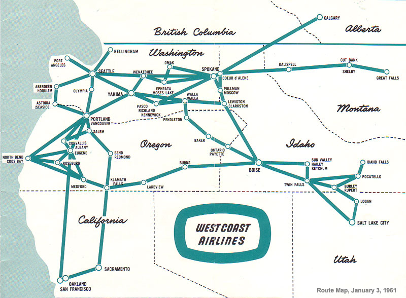 West Coast Airlines on air florida route map, southwest airtran route map, southern airways route map, british airways route map, south west route map, britannia airways route map, south west airlines seat map, braniff international route map, south west airline from seattle map, southwest airlines flight routes map,